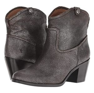 Frye Shoes - NWT FRYE LEATHER DISTRESSED METALLIC BOOTIES